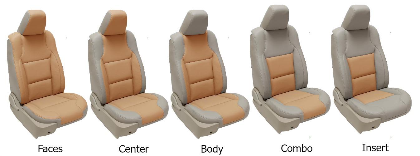 Jme Cushion Two Tone Colour Leather Seat Covers Malaysia